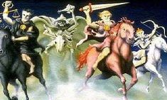 Horsemen Of The Apocalypse, Painting, Art, Art Background, Painting Art, Kunst, Paintings, Performing Arts, Painted Canvas