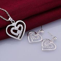 gioielli a forma di cuore moda set (collana + orecchini) (1 set) – EUR € 10.55