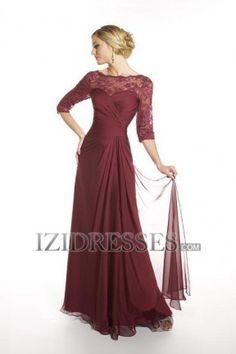 Sheath/Column Halter Chiffon Lace Mother of the Bride - IZIDRESSES.COM Shorten to tea length?