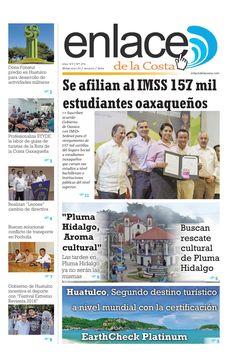 Edición 272; Enlace de la Costa  Edición número 272 del periódico Enlace de la Costa, editado y distribuido en la Costa de Oaxaca, con información de la región.