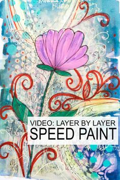 Inspiration for your next art piece with lots of layers in this artwork by Kim Dellow. Watch it come together in this speed paint video. Liquitex Paint Marker, Paint Pens, Paint Markers, Craft Stash, Acrylic Flowers, Art Journal Pages, Journal Ideas, Acrylic Painting Techniques, Speed Paint