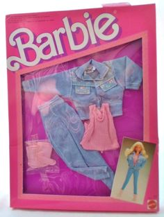 Vintage MIB 1987 Mattel Barbie Doll Outfit, #4335, The Jeans Look Fashions, New Old Stock, Unopened Box, Barbie Doll Clothes, Barbie Outfit