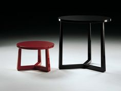 Lacquered round solid wood coffee table JIFF | Coffee table - FLEXFORM