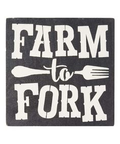 Look what I found on #zulily! 'Farm to Fork' Indoor/Outdoor Wall Sign #zulilyfinds