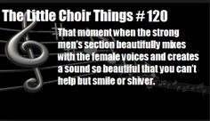 Yeah thats never happened with my choir. We are lucky if the baritones are even singing actual words.