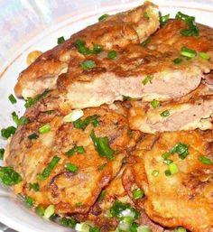 Куриная печень в сметанно-чесночном кляре. Ингредиенты: Печень куриная -500 г Мука пшеничная -4 ст. ...
