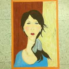 Modigliani portraits oil pastel