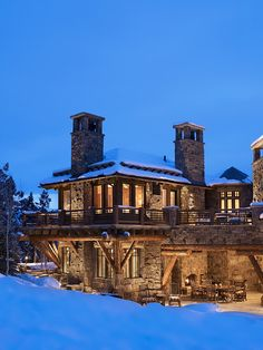 If you could find a way to keep the exterior space warm, this could be a killer concept. Ski home by Billy Beson Company.