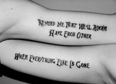 A most thorough guide on Best friend tattoos (BFF tattoos). They make a memorable gift which two friends can give to each other. Bff Tattoos, Sibling Tattoos, Tattoos Skull, Trendy Tattoos, Lyric Tattoos, Badass Tattoos, Heart Tattoos, Anchor Tattoos, Butterfly Tattoos