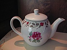Moss Rose Diamond China Tea Pot