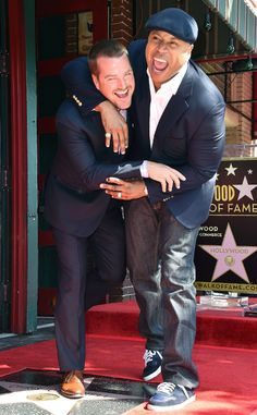 Chris O'Donnell & LL Cool J from The Big Picture: Today's Hot Photos  The NCIS: Los Angeles actor gets his Hollywood Walk of Fame star and a headlock from his actor-rapper costar.