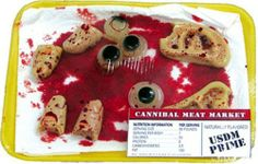 Bloody Gory Halloween Meat Market Body Parts Ears Eyes Fingers Prop by Jekyll and Hyde Props. $15.99