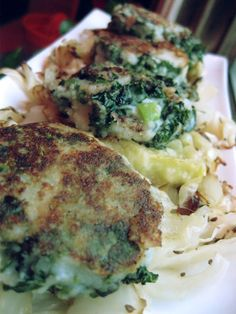 Vegan Dinner and a Movie....Colcannon Pancakes over caraway roasted cabbage