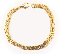 Tendenze Italy Byzantine-Chain Bracelet, Gold Double, Length Directly From The Italian Factory ** Learn more by visiting the image link. Byzantine, Jewelry Stores, Amazing Women, Women Jewelry, Italy, Jewels, Chain, Detail, Gold
