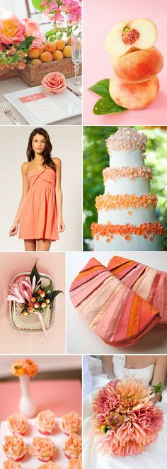 There's just something about the mixture of these peach, pink and coral hues that drive me absolutely crazy! They are so fresh and bright – and with a little bit of green here and there… I'm in love! What a gorgeous look for a summer wedding, don't you agree?