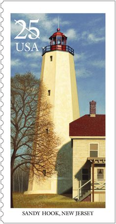 This is one of five lighthouses stamps issued in 1990.