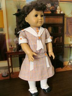 Doll Dress Historical Dress Sailor Dress by fashioned4you on Etsy