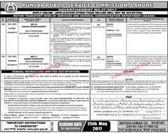PUNJAB PUBLIC SERVICE COMMISSION JOBS, ADVERTISEMENT NO.27/2017  APPLY ONLINE  (APPLICATION OTHER THAN ON-LINE WILL NOT BE ACCEPTED) MOTOR TRANSPORT WING OF SERVICES AND GENERAL ADMINISTRATION DEPARTMENT (S&GAD) Case No. 10-E / 2017 GARAGE SUPERINTENDENT (BS-16)...................   #Civil Secretariat Jobs #PPSC #S&GAD