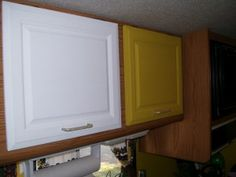 Giving Your RV Kitchen Cabinets A Makeover - good article with tips on how to do it