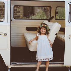 How gorgeous does this little flower girl look in our French Vanilla Dress