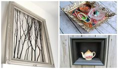 We all have old vintage frames left by our grandmothers. It is a real shame to throw them and that is why we found great ideas how to repurpose them. You c