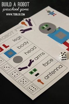 seven thirty three - - - a creative blog: Build A Robot Preschool Game