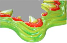New Mirror for your Home deco and house. Wall mirror frame in the shape of a funky Monster Mouth Mirror.