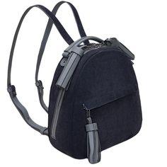 Женский городской рюкзак Fidelitti Zaino из натуральной кожи и замша серого…