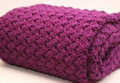 Throw Afghan Blanket  Crochet  Dark Purple by AnnelieseandSerafina, $85.00