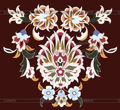 Traditional antique ottoman turkish tile design   Stock Vector Graphics  ID 3059904