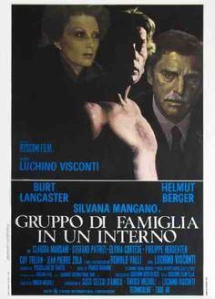 """Gruppo di famiglia in un interno"""" 1974 di Luchino Visconti  con Burt Lancaster, Silvana Mangano ed Helmut Berger."""
