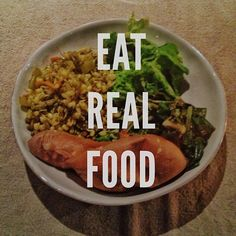 Taking a que from Rich Roll... Eat real food... farm fresh garden greens, sprouted mung beans & yam