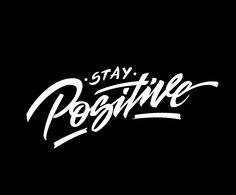 Stay Positive. Handraw and illustrator.