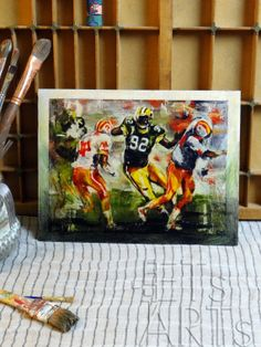 Wood Print  The MINISTER of DEFENSE Reggie White  Green by ETsARTs, $33.00