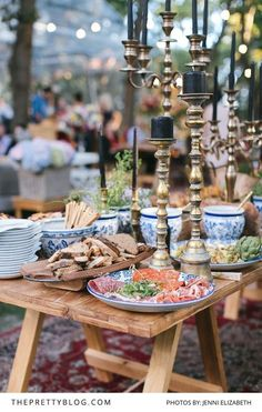 Forest Feast | Wedding reception food inspiration | Eclectic and utterly unique details set out in a magical forest venue | Real Wedding | Wedding decor ideas | Photography by Jenni Elizabeth