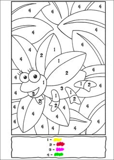 color by numbers Animal Coloring Pages, Printable Coloring Pages, Coloring For Kids, Coloring Pages For Kids, Numbers Preschool, Kindergarten Worksheets, Worksheets For Kids, Learning Games For Kids, Preschool Learning