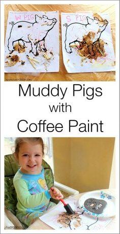 """Pintar"" amb cafè"
