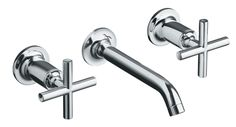 Purist(R) Two-Handle Wall-Mount Lavatory Faucet Trim, Valve Not Included In Polished Chrome