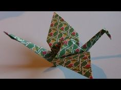 Origami -Pliage N°8 - La grue - YouTube