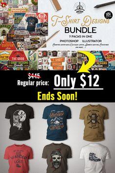T Shirt Design Template, Photoshop Illustrator, Airplanes, Design Bundles, Funny Tshirts, Nautical, Surfing, Shirt Designs, Hiking