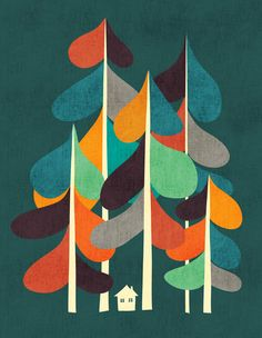 Cabin in the woods Art Print