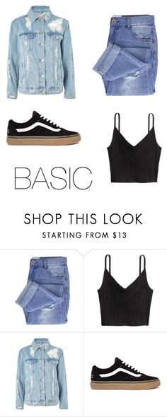 """""""BASIC"""" by natalialima0502 on Polyvore featuring Taya, H&M e Topshop"""