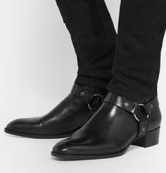 Saint Laurent - Leather Harness Boots - Preacher Styles