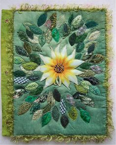 fabric book page. Would be a beautiful cover for my kobo!