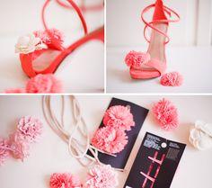 DIY flower heels