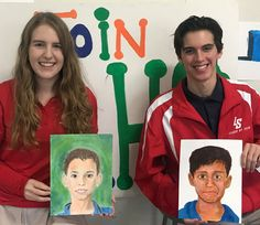 These La Salle students painted portraits for Syrian refugee children