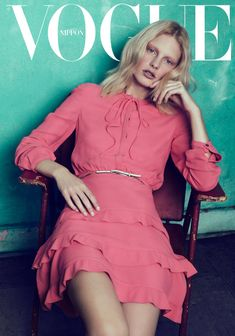 VOGUE Japan April 2012 Title : When Life Was Young Photography : Lachlan Bailey Model : Patricia van der Vliet Fashion Cover, Pink Fashion, Fashion Shoot, Editorial Fashion, Women's Fashion, Fasion, Fashion Dresses, Magazine Mode, Vogue Magazine