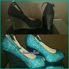 Fun wedges I transformed for a client in Canada.  Shiningsoles@hotmail.com