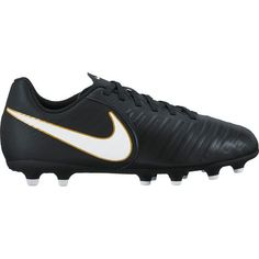 Nike Boys' Jr. Tiempo Rio IV FG Soccer Shoes (Black/White/Black, Size 13) - Youth Soccer Shoes at Academy Sports