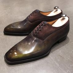 JMLEGAZEL Soulier Carrosse CR07 Bi-matière Carrosse, Soulier Homme,  Richelieu, Chaussures Élégantes 13f329c67717